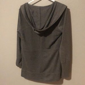 Super cute grey cardigan with pockets and hood